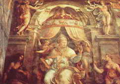 Zodiac on the Papal throne